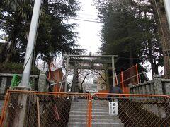 上鶴間にある長嶋神社です。工事中で正面入り口からは入れないので別のところから入りました。