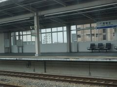 ●こだま847号から  9:53。 JR西明石駅に到着です。