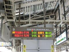 3/30(火) 東京駅9時発の踊り子号に乗りいざ下田へ。春休み中ではありましたが、行きはそれほど混んでいませんでした。