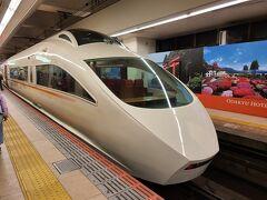 新宿駅に着いてホームへ向かおうとすると、小田急ロマンスカーが到着するとの事! ロマンスカー!乗った事も見た事も無いので、見る事にしました。 窓が大きく綺麗な車体です。 一度、乗ってみたくなりました。 私の印象は観光列車だけど、ドラマでよく事件が起きる列車です。
