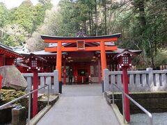 『箱根神社』の隣「龍神水舎」のすぐそばには『九頭龍神社(新宮)』があります。