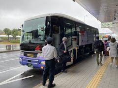 悪天候の中でしたが、定刻通りに広島空港へ到着しました。 ちょうどお昼時なので渋滞も無く順調そのもの。