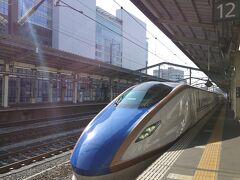 ★8:43 そして高崎から北陸新幹線「はくたか」に乗り換え~緊急事態宣言解除直後の週末ということで、普通席はかなり混雑しているよう。ということで…