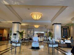 15階にマリオットアソシアホテルの入口があります。  正面はレストラン。