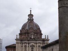 サンティ・ルカ・エ・マルティナ聖堂。フォロ・ロマーノからも見えました。