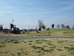 続いて、権現堂公園の遊具などがあるエリアにやってきました。