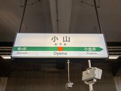 栃木県県南の都市・小山市の中心駅、小山駅に到着しました。  当駅は宇都宮線、東北新幹線、両毛線、水戸線が乗り入れるターミナル駅です。  大回り乗車では小山以北に行けないので小山駅で、水戸線に乗り換えます。