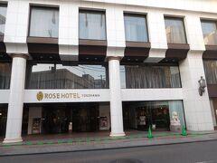 中華街の中にあるローズホテルに到着~。  チェックイン。。