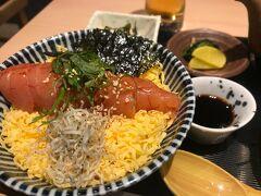 夕食は「はたか天乃」KITTE博多店で明太子丼定食