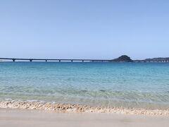 角島大橋を眺め、春の海風を受けて和む。