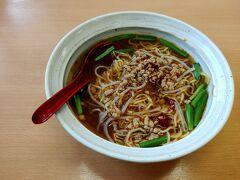 長門市深川湯本にある台湾料理の福香閣で台湾炒飯と台湾ラーメンのセットを食べ満腹感を味わう。