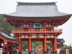 鵜戸神宮桜門 立派ですね。