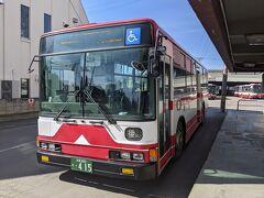 「市内観光地巡り」の路線バスに乗り込みます。