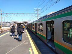 小田原から1駅2分 早川に着きました。 のどかな駅ですねー