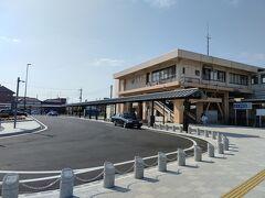 8:50 行田駅 駅前ロータリーが整備された模様 でも、お店がないのね…これから誘致かな?