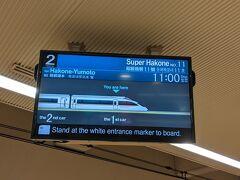 今回も11時新宿発のはこね11号で出発です。