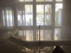 2日目スタート!  先ずは大浴場に(^_^)  昨日とは男女入れ替わってて、観音露天風呂に!  残念ながら今朝は貸切ではなかったけど、ゆったり入れたんで、今度は部屋風呂に入ります!