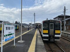 水戸から1時間15分ほどで常陸大子駅に到着。
