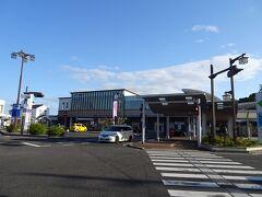 倉吉駅に到着し、朝食を食べてからバスで関金温泉へ。