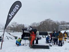 今回参加したかったイベントとは、スキーやスノーボードのメーカーであるサロモンさんの来シーズンモデルの試乗会。2021-2022年のニューモデルとして売り出す予定のスノーボード板やビンディングを事前に体験できるイベントです。  今回ルスツに宿泊したのもこれへの参加が大きな目的。昨日と今日との2日間でルスツで開催することをSNSで情報入手し、Webで申し込みしました。参加費は無料です。
