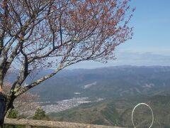 ケーブルカーの終点のケーブル比叡につきました。 眼下に広々とした景色が望めます。 桜の梢は薄っすらと春の色に飾られていました。 でも予想通りまだ蕾の状態です。 満開には早すぎる比叡山でした。 元気のある人はここから瓦を投げるのでしょうか。 遠くに投げられると気持ちがいいでしょうね。  ところでこのケーブルカーは日本最古の ものだと聞いたことが有ります。 昔はブルトーザーやシャベルカー等の重機が 無い時代でしたからすべて人力で建設したと アナウンスされていました。 昔の日本人の勤勉さと技術力の高さに頭が下がる 思いがしました。