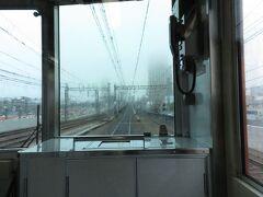 2021.03.21 尼崎ゆき急行列車車内 大物からは難波からの電車と並行する複々線となる。