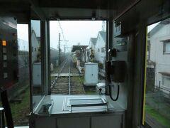 2021.03.21 武庫川団地前ゆき普通列車車内 洲先は1面1線の棒駅。