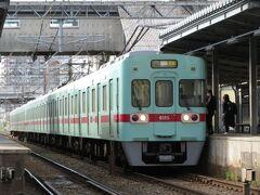 2021.04.03 朝倉街道 駅から5分ほど歩けば西鉄の朝倉街道である。急行が停車する。