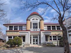 網走郷土博物館に到着。お洒落な洋館なので明治の建造物かと思ったら、1936年(昭和11年)竣工でした。