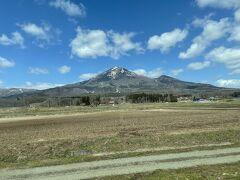 磐梯山がきれいに見えます。