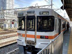 身延線、富士行に乗車 単線で2両編成でした