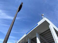 競技場到着!結局甲斐住吉からここまで一時間弱かかったような(^◇^;) こちらはこの3月から名称が『JITリサイクルインクスタジアム』に変わりました。