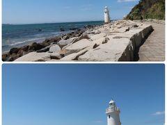 伊良湖岬に行くには細い下り道だったのでMTBは置いて歩いて向かいます。下った先には遊歩道がありまたまた青空と青い海が美しすぎる~!