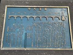 次は耶馬溪橋(やばけいばし)へ移動  1923年にできた日本で一番長い石橋  8連のアーチが美しいです