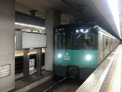 北神急行…と思っていたら、神戸市営地下鉄北神線になってたのね。谷上駅行きに乗車。乗り鉄じゃないよ~。