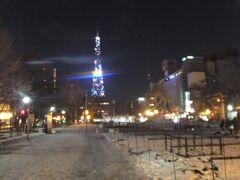 大通公園。ここの雪の上で2015年3月に走りましたっけね(笑)。