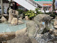 妹と小田急線秦野駅に10時に待ち合わせました。駅前に湧水があります。