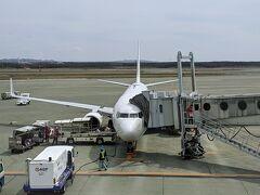 新千歳空港到着はほぼ定刻。