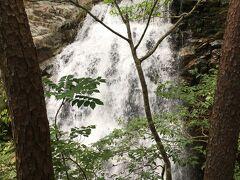降り切った場所に見えた虹見の滝。 水量が結構あって迫力有り。