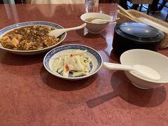 ランチに麻婆豆腐 お櫃ご飯でお腹いっぱい。