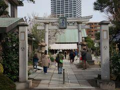 佃のさらに奥まった場所にある「住吉神社」  1646年に建立 大阪の佃の漁民が移り住んだここ佃に、 大阪の住吉神社の分霊として建てられたとか