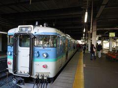 ★7:14 長野駅に到着。そのまま北しなの線の電車に乗り換え~