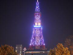 さっぽろテレビ塔のライトもどこか寂しげでした(終)
