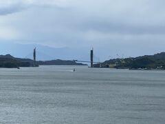 生口橋からは、一般県道岩城弓削線の岩城橋を建設しているのが見えた。 吊り橋って、こんな風に作るんだ…