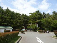 瀬戸内海を渡って本州到着! 岡山県の端っこ、鷲羽山へやってきました。 無料の広い駐車場へ車を停め、山頂へ向かって歩きます。