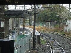 これも片面ホームの昭和駅。 さっき乗ったバスはこのすぐ右側にある道を通った。