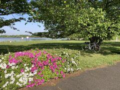 4月23日(金) 朝から爽やかな晴れ。 旅用の荷物をサドルバッグにまとめ、荒川CRへ。 ロードバイクも久しぶりなら、荒川CRも久しぶり。