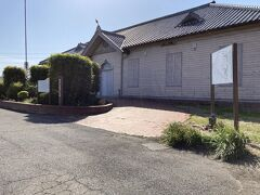 日本煉瓦資料館の公開は土日のみ。