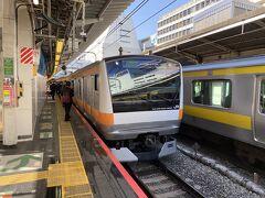 今回は新宿からスタートです。 中央特快で高尾に向かいます。