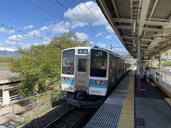9:50頃に勝沼ぶどう郷駅に着きました。